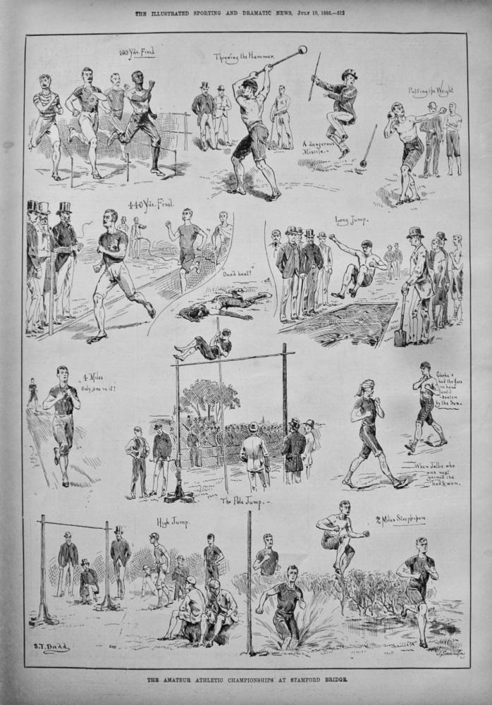 The Amateur Athletic Championships at Stamford Bridge. 1886.