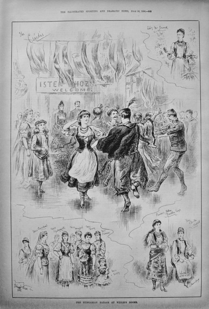The Hungarian Bazaar at Willis's Rooms. 1886.