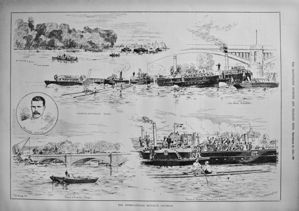 The International Sculling Contests. 1886.