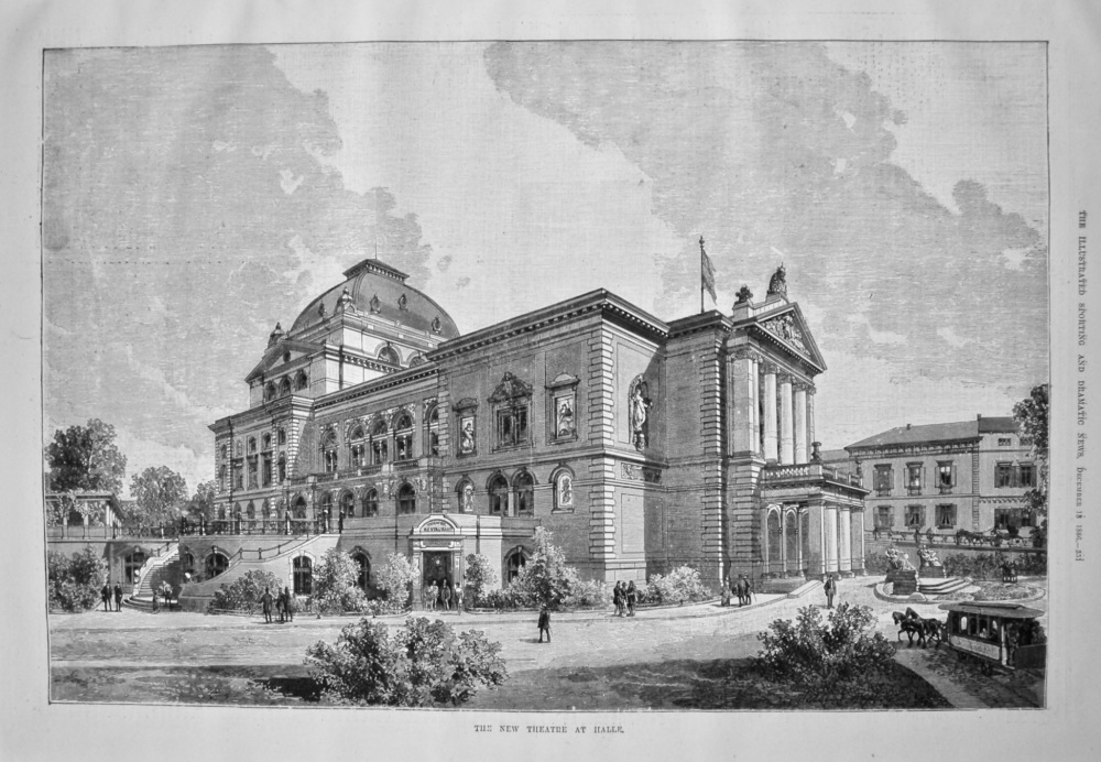 The New Theatre at Halle. 1886