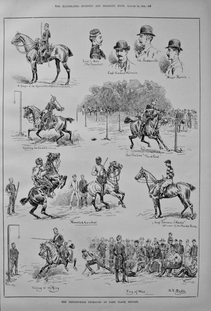 The Oxfordshire Yeomanry at Park Place, Henley. 1886.