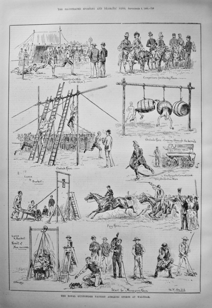 The Royal Gunpowder Factory Athletic Sports at Waltham. 1886