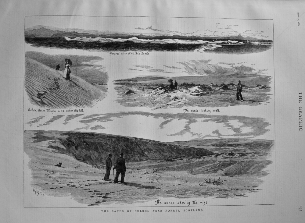 The Sands of Culbin, near Forres, Scotland. 1882