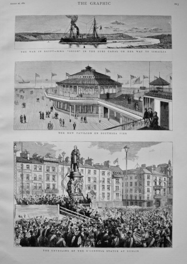 The Unveiling of the O'Connell Statue at Dublin. 1882.
