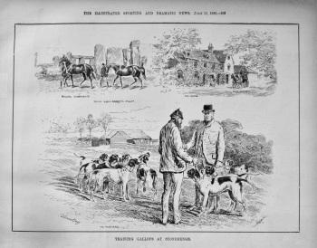 Training Gallops at Stonehenge. 1886