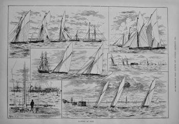 Yachting at Ryde. 1886