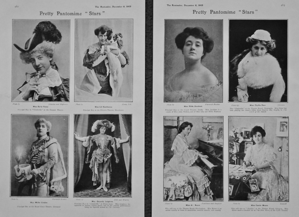 "Pretty Pantomime ""Stars"". 1905."
