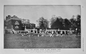 Meet of Lord Zetland's Hounds at Aske, Richmond, Yorks. 1905.