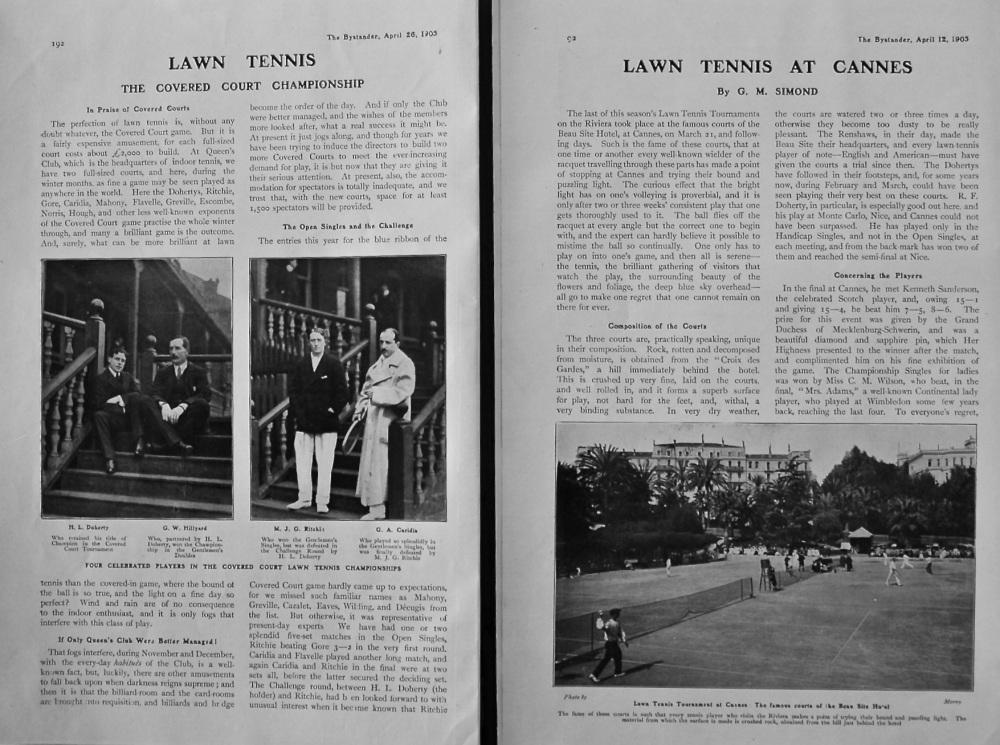 Lawn Tennis. 1905.