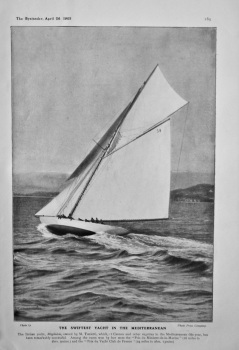 The Swiftest Yacht in the Mediterranean. (Magdalen) 1905.