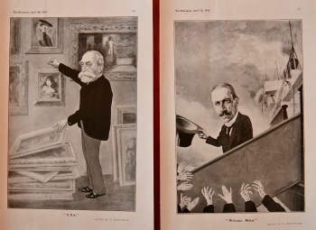 """Welcome, Milner"". & ""P.R.A."". (Drawings) 1905."