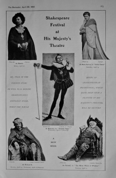 Shakespeare Festival at Her Majesty's Theatre. 1905