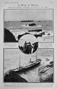 "A Week of Wrecks. Saving the ""Suevic's"" Passengers : The Wreck of the ""Jebba"". 1907"