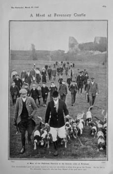 A Meet at Pevensey Castle. 1907