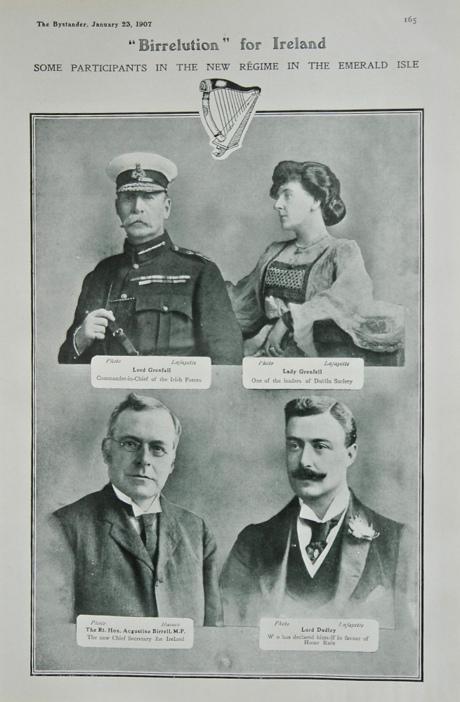 """""""Birrelution"""" for Ireland : Some Participants in the new Regime in the Emerald Isle. 1907"""