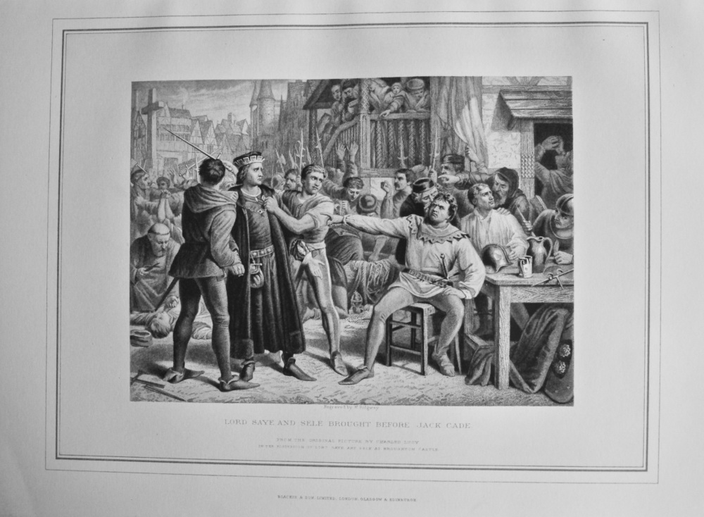 Lord Saye and Sele Brought Before Jack Cade.