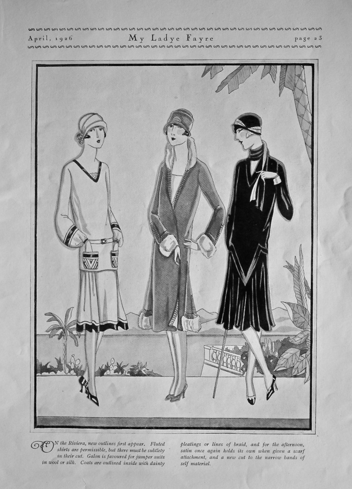 On the Riviera new outlines first appear. 1926