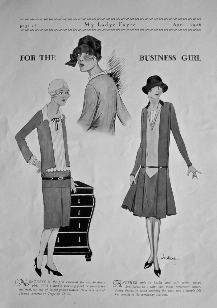 Fashion for the Business Girl. 1926