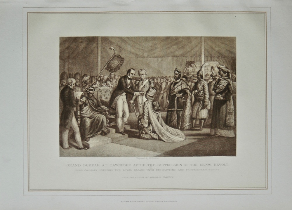 Grand Durbar at Cawnpore after the Suppression of the Sepoy Revolt.