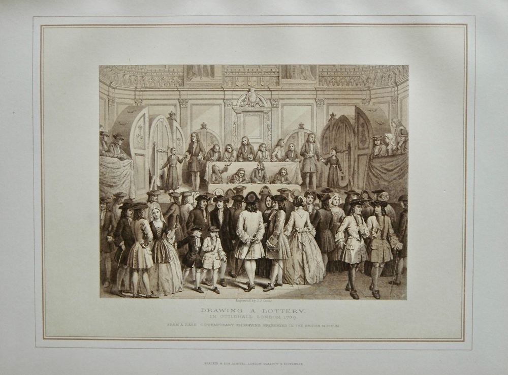 Drawing a Lottery, in Guildhall London. 1739.
