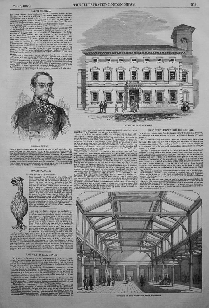 New Corn Exchange, Edinburgh. 1849