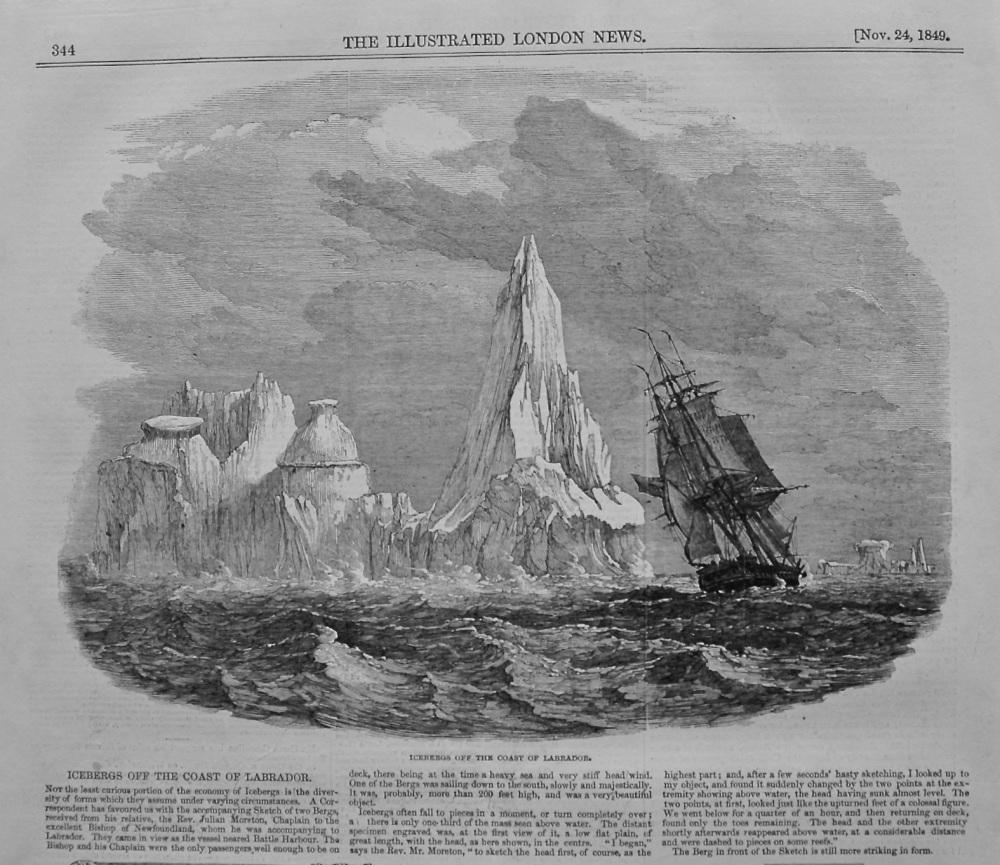 Icebergs off the Coast of Labrador. 1849.
