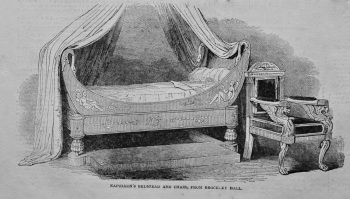 Bed and Chair of Napoleon. 1849.