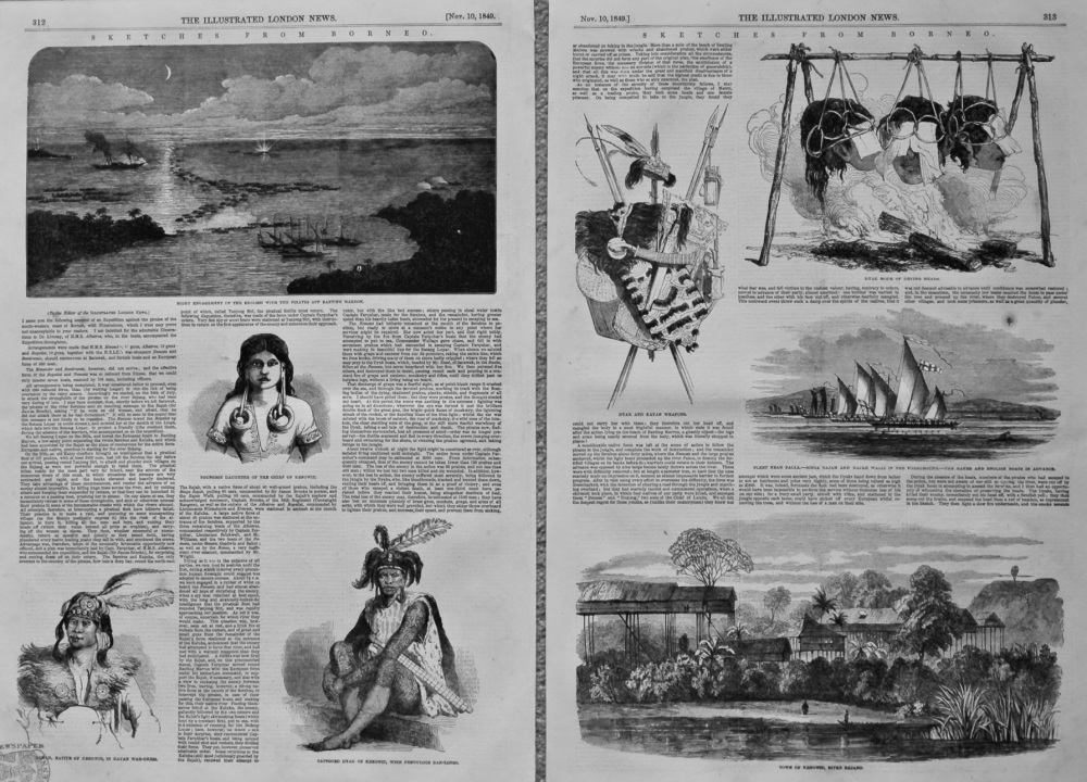Sketches from Borneo. 1849.