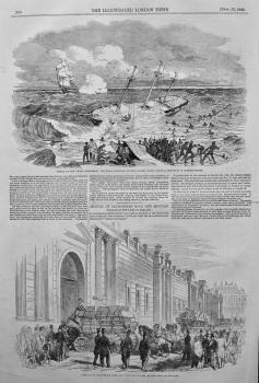 "Wreck of the ""Mary Elizabeth,"" off Point Gallinas, on the Goajira Coast. 1849"