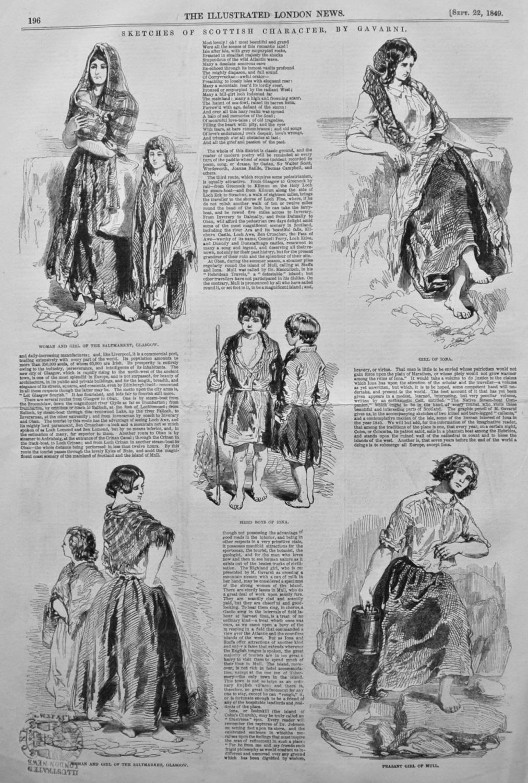 Sketches of Scottish Character, by Gavarni. 1849