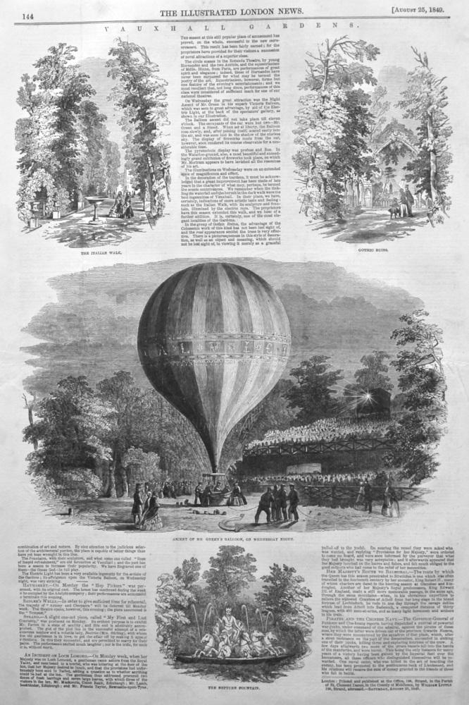 Vauxhall Gardens. 1849.