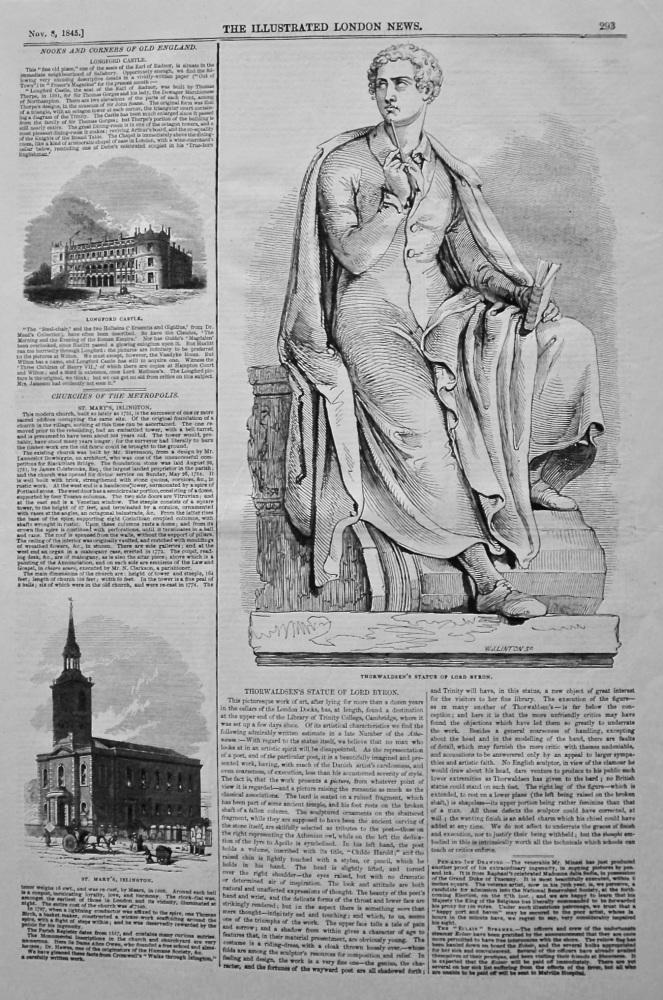 Thorwaldsen's Statue of Lord Byron. 1845.