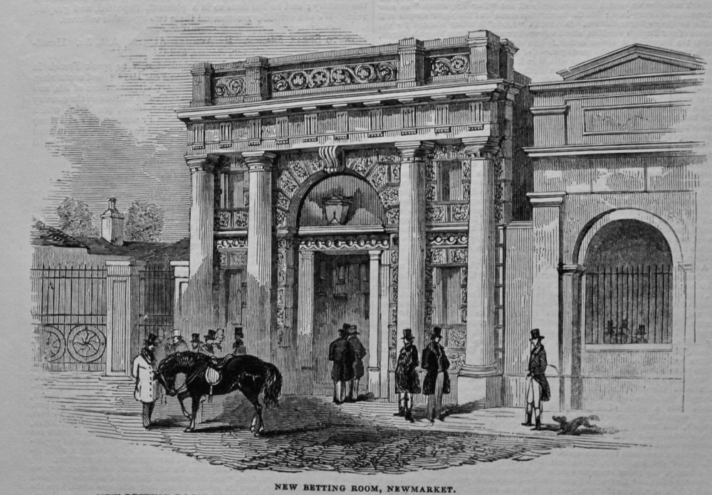 New Betting Room, Newmarket. 1845.