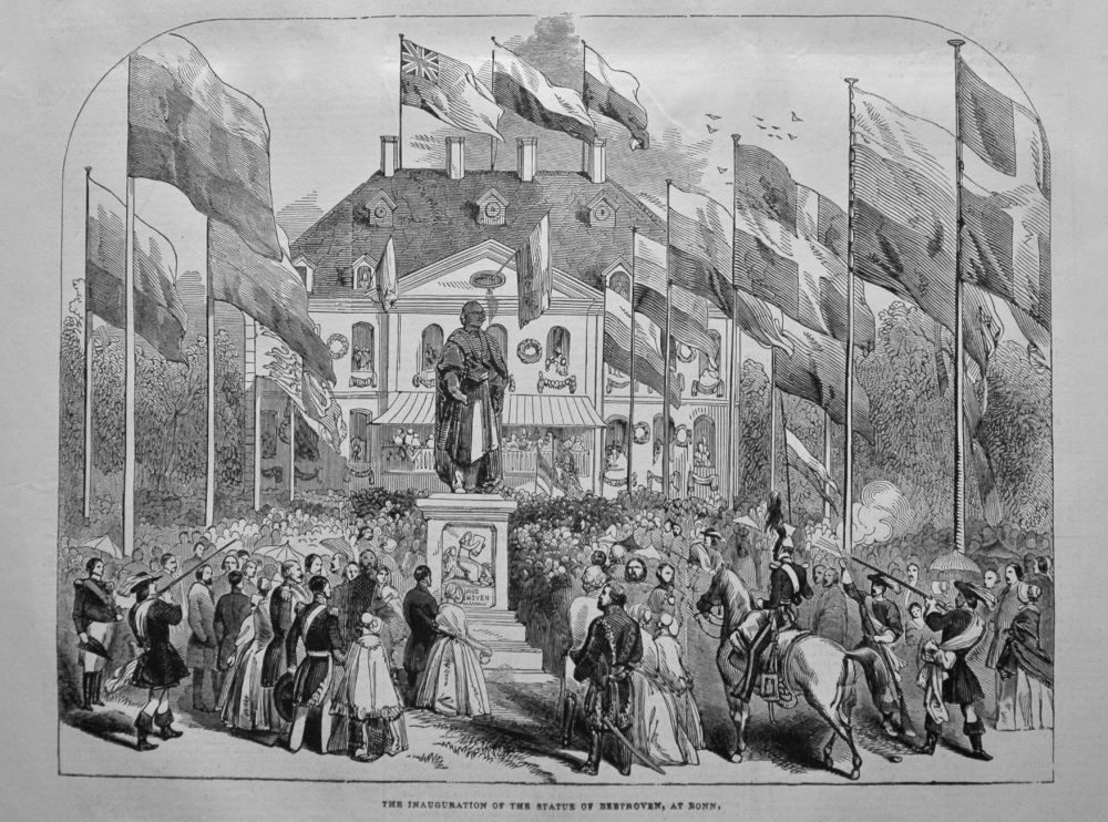 The Inauguration of the Statue of Beethoven, at Bonn. 1845.