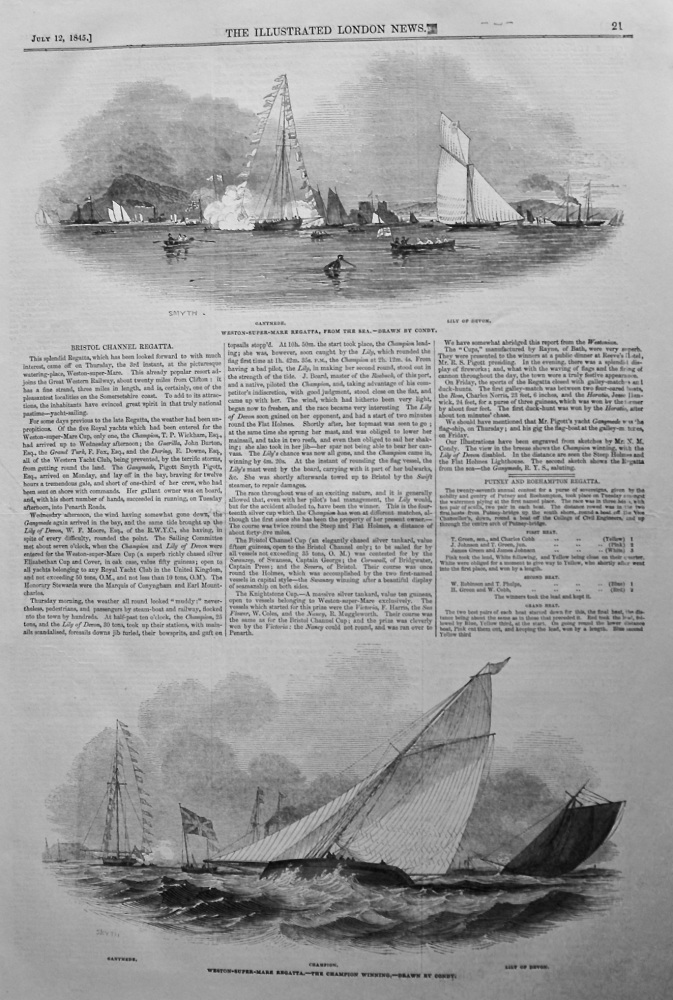 Bristol Channel Regatta. 1845.