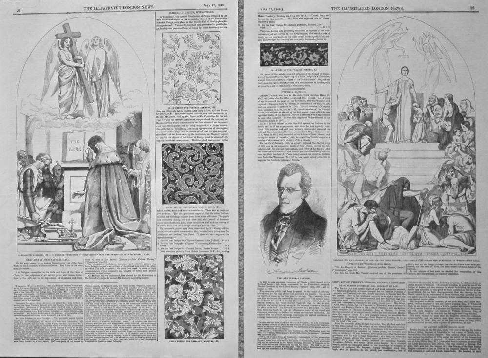 School of Design Spitalfields. 1845.