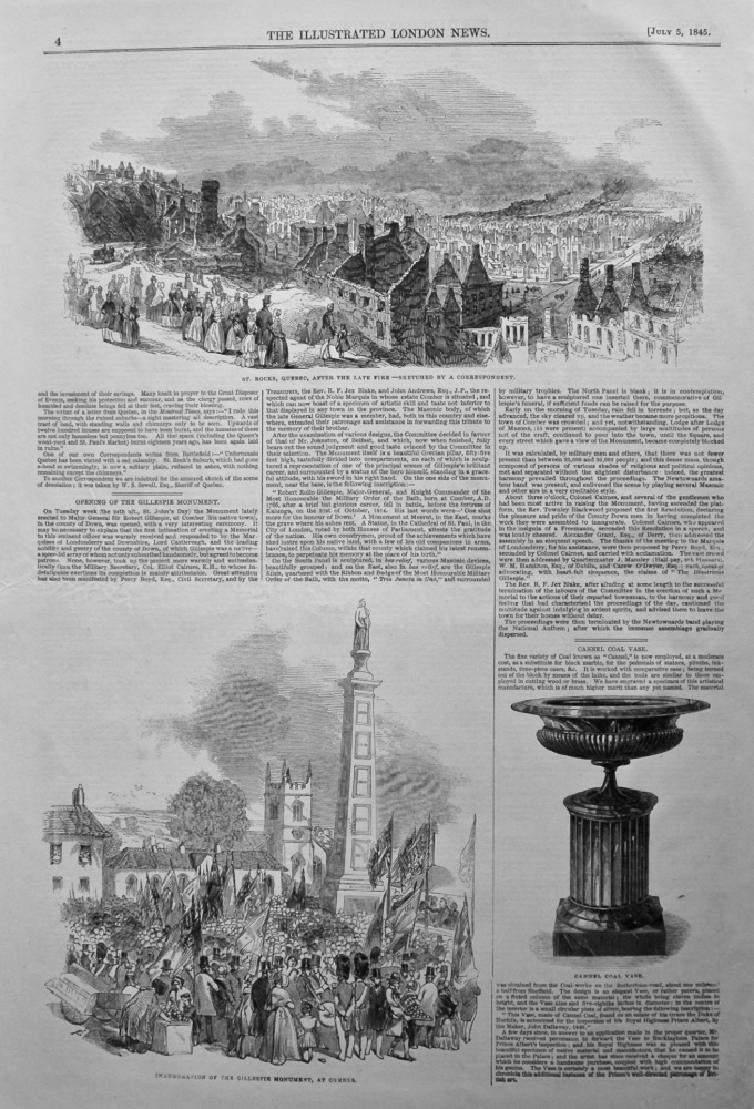 Opening of the Gillespie Monument. 1845.