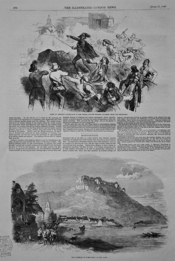 Konigstein. 1849.