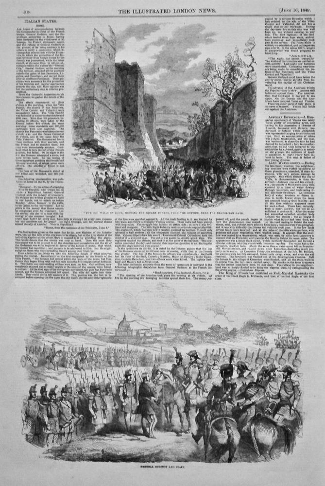 Italian States. Rome. 1849.