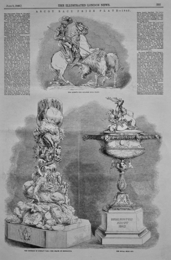 Ascot Race Prize Plate- 1849.
