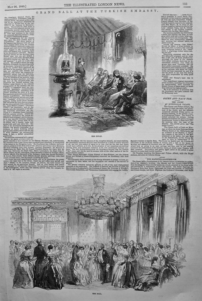Grand Ball at the Turkish Embassy. 1849.