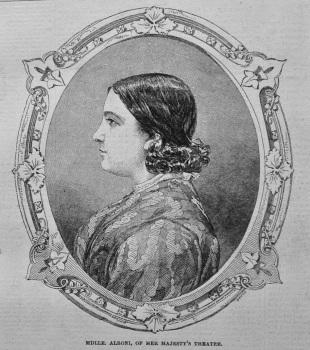 Mdlle. Alboni, of Her Majesty's Theatre. 1849