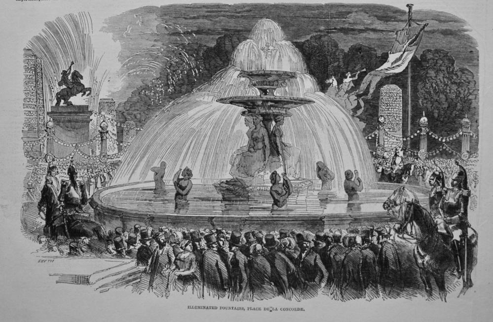 Illuminated Fountains, Place de La Concorde. 1849.