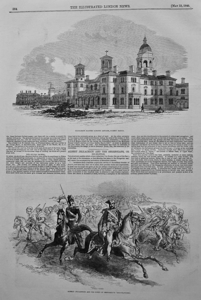 Middlesex Pauper Lunatic Asylum, Colney Hatch. 1849.