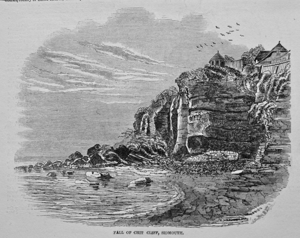 Fall of Chit Cliff, Sidmouth, Devon. 1849.