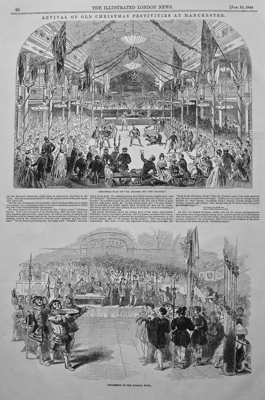 Revival of Old Christmas Gambols at Manchester. 1849.