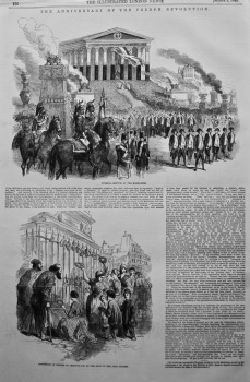 Anniversary of the French Revolution. 1849.