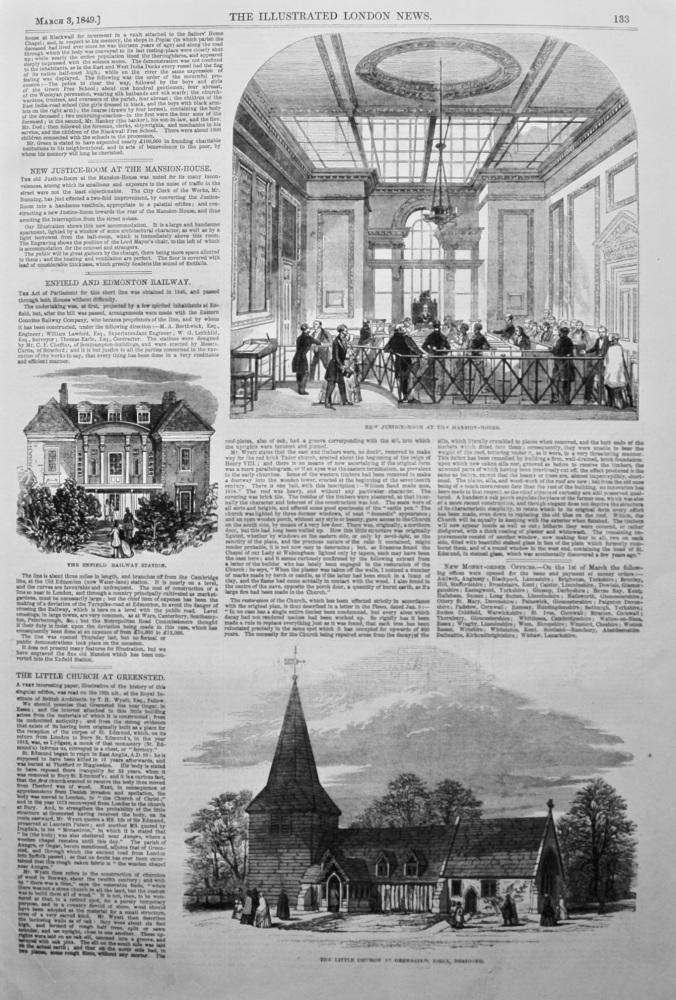 Enfield and Edmonton Railway. 1849.