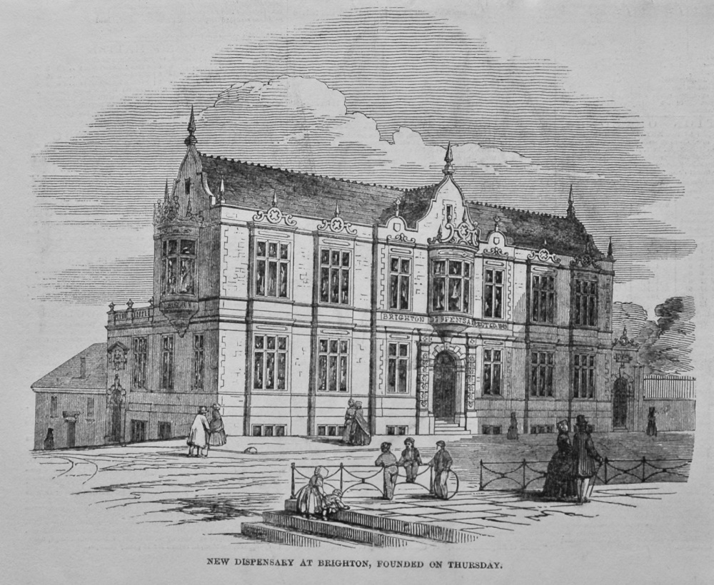 New Dispensary at Brighton, Founded on Thursday. 1849.