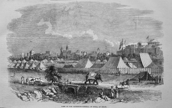 Camp of the Governor-General of India, at Delhi. 1849.